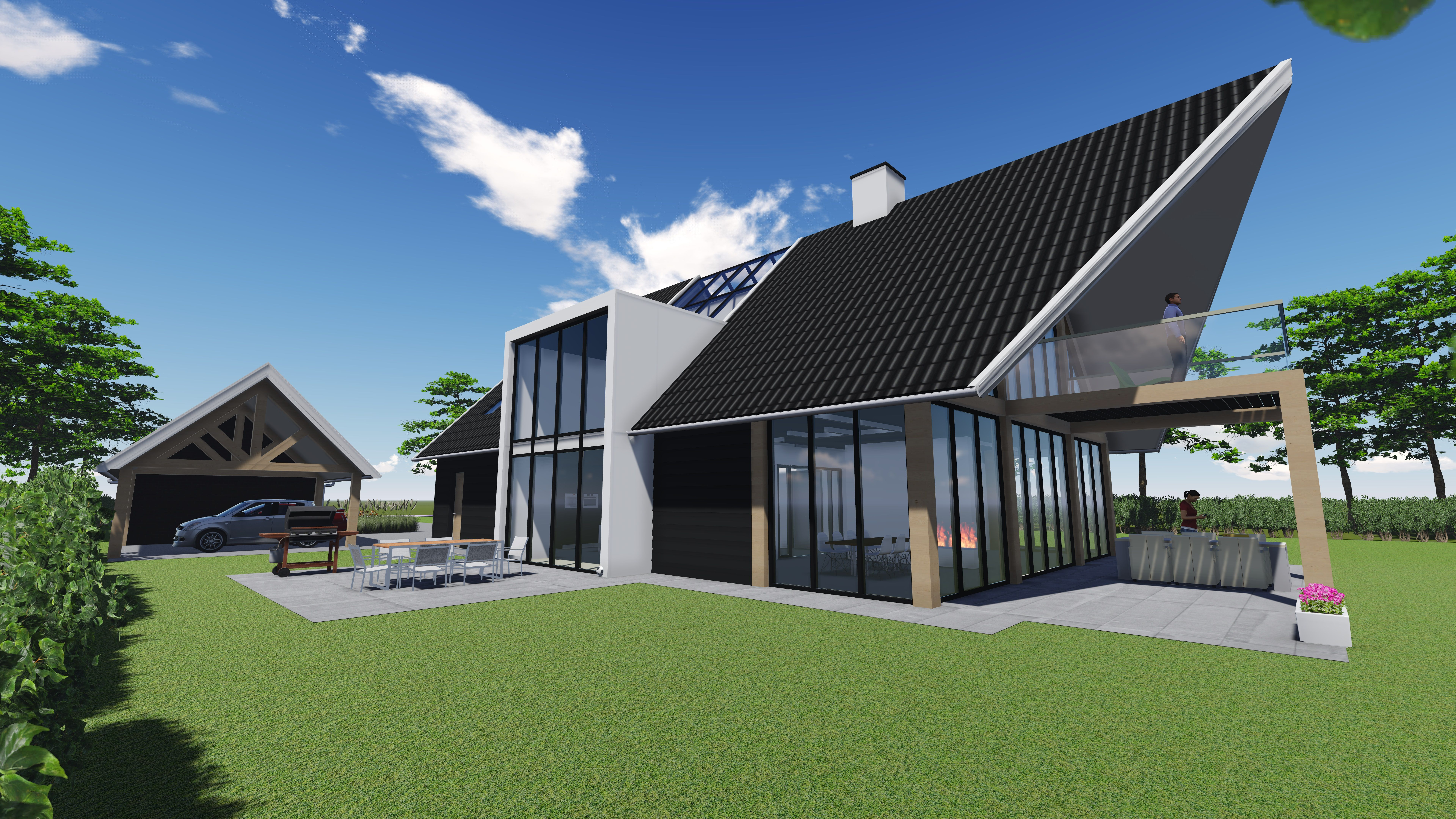 Woningbouw tom linneman for Moderne villa architectuur